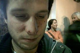 Santiago Kalinski, uno de los detenidos en la protesta