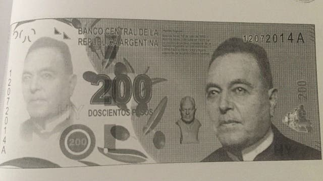 El billete diseñado de Hipólito Yrigiyen