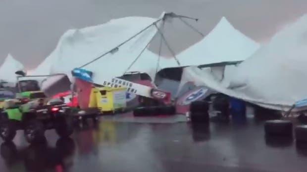 Temporal en Entre Ríos: un tornado provocó destrozos en el autódromo