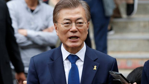 El presidente electo de Corea del Sur Moon Jae-in