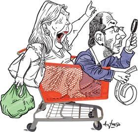 La diputada Elisa Carrió y el secretario de Comercio, Miguel Braun
