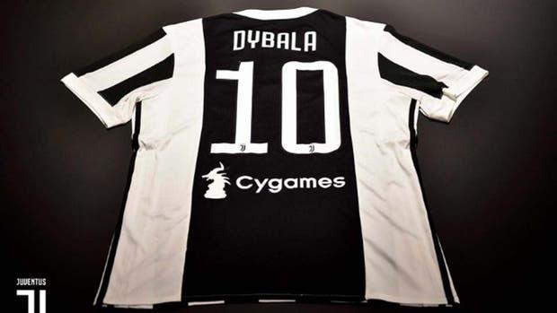 Juventus le dio la camiseta número 10 a Dybala