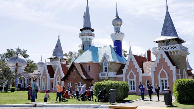 Una vista de los coloridos castillos. Foto: LA NACION / Juan Pablo Soler