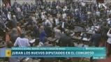 Jura de legisladores en el Congreso: Espinoza, Scioli y Solá