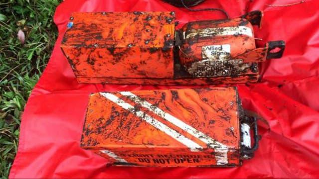 Las cajas negras del avión siniestrado en Colombia