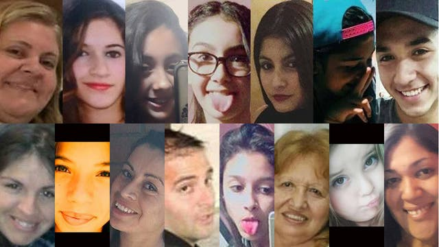 De izq a derecha, arriba: Karina Gómez (38), Florencia Pardini (15), Camila Saucedo Jara (12), María Sol Silva (13), Sol Villagrán (17), Valentina Arias (13), Marcos A. Velazquez (19). Abajo: Fátima López (33), Camila Mastropierro (14), María Ángeles Pérez (31), Damián Pinelli (35), Marianela Aragón