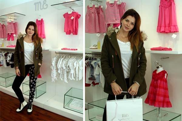La China Suárez pasó por el local de Magdalena Espósito para chusmear ropa para Rufina. Foto: gentileza Carolina Cukier