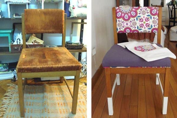 Encontraste una silla reciclala revista ohlal - Como tapizar una silla con respaldo ...