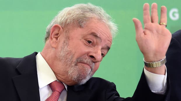 Lula, durante su asunción como jefe de Gabinete