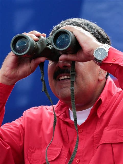 Maduro, ayer, en el Palacio de Miraflores