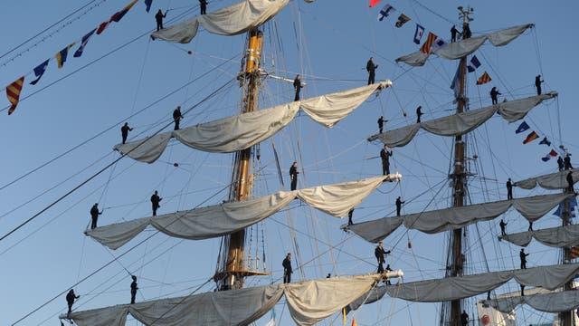 La llegada de la Fragata Libertad a Buenos Aires
