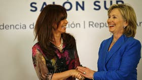 Hillary Clinton y Cristina Kirchner, en la Casa Rosada, en 2010