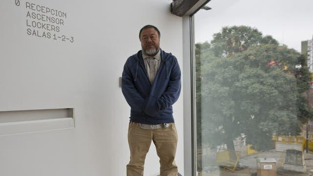 En La Boca, el artista chino dijo que la crisis de los refugiados es una crisis de la humanidad