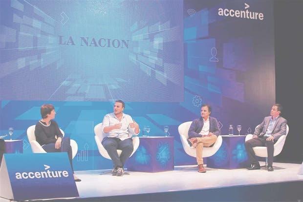 Sally Buberman (Wormhole), Jacinto Montú (Unicorn Games), Sebastián Sajoux (Arqlite) y Francisco Colombatti (Molinos Agro)
