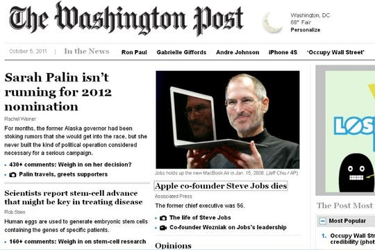 El portal del diario The Washington Post, de EE.UU..
