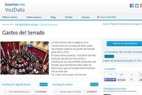 VozData, el nuevo sitio de LA NACION