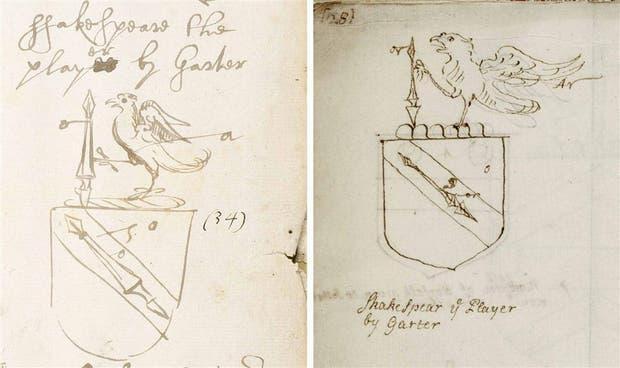 Escudo de armas shakespereano: iIlustraciones del siglo XVII, cuando William se ocupó del trámite