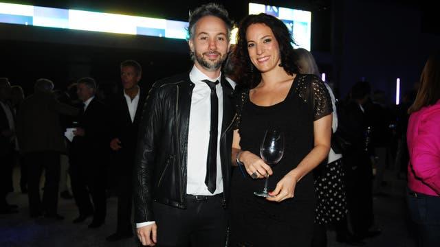 Diego Iglesias y Carola Birgin, editora de Moda y Belleza de LA NACION. Foto: LA NACION