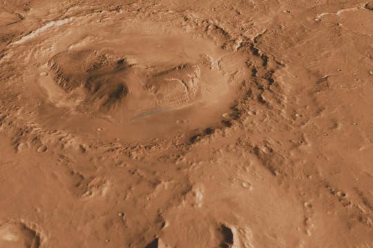 El cráter Gale, formado hace 3000 millones de años, podría contener información vital para los científicos. Foto: NASA