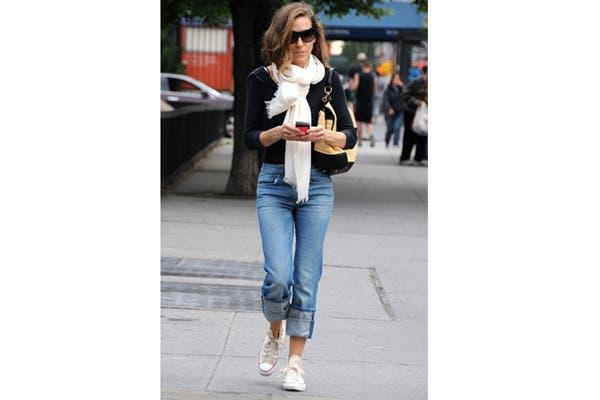 Sarah Jessica Parker las lleva con boyfriend jeans, sweater negro y bufanda. Foto: Fuente: www.Glamour.es