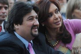 Maurice Closs junto a Cristina Kirchner