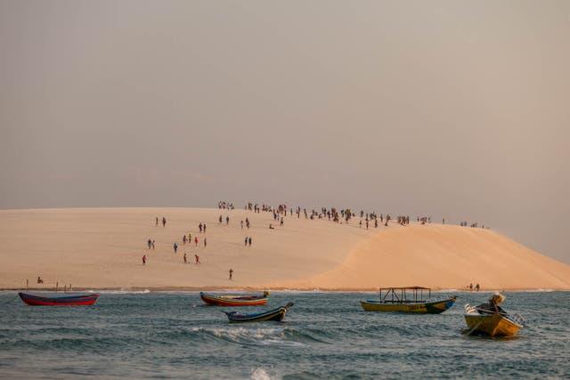 La duna por do sol, un clásico para ver el atardecer en Jericoacoara. Sebastián Pani