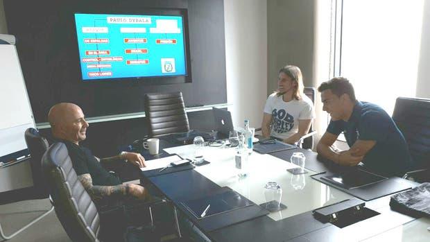 La reunión con Dybala