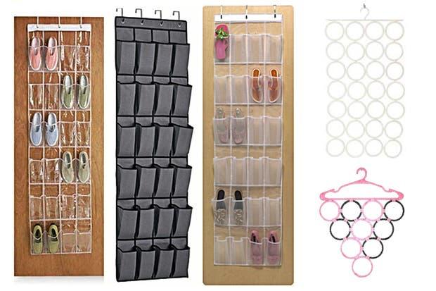 Usá accesorios que te ayuden a ubicar objetos en el interior de manera ordenada hay organizadores de zapatos y otros accesorios que resultan muy útiles