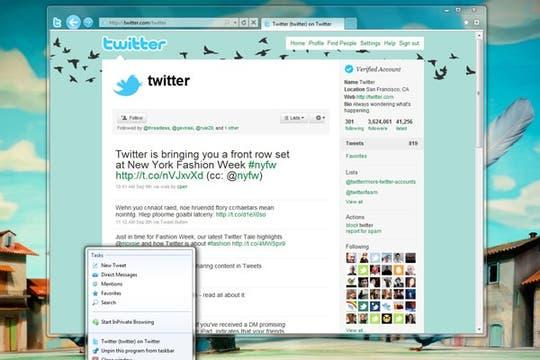 Una vista del nuevo Internet Explorer 9. Foto: AP