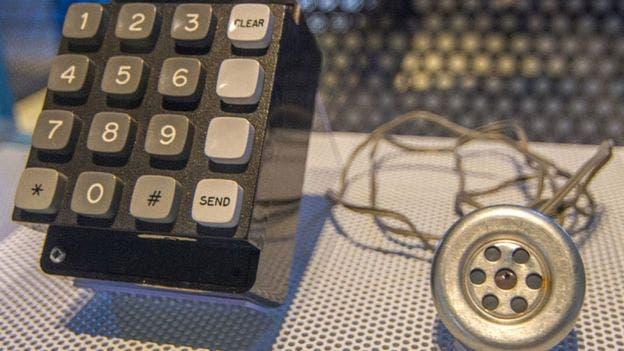 Una blue box original, para generar los tonos de control, hoy en el Powerhouse Museum