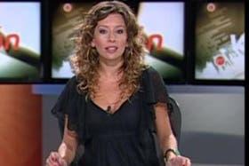 La periodista Agustina Díaz, coconductora del informativo Visión 7