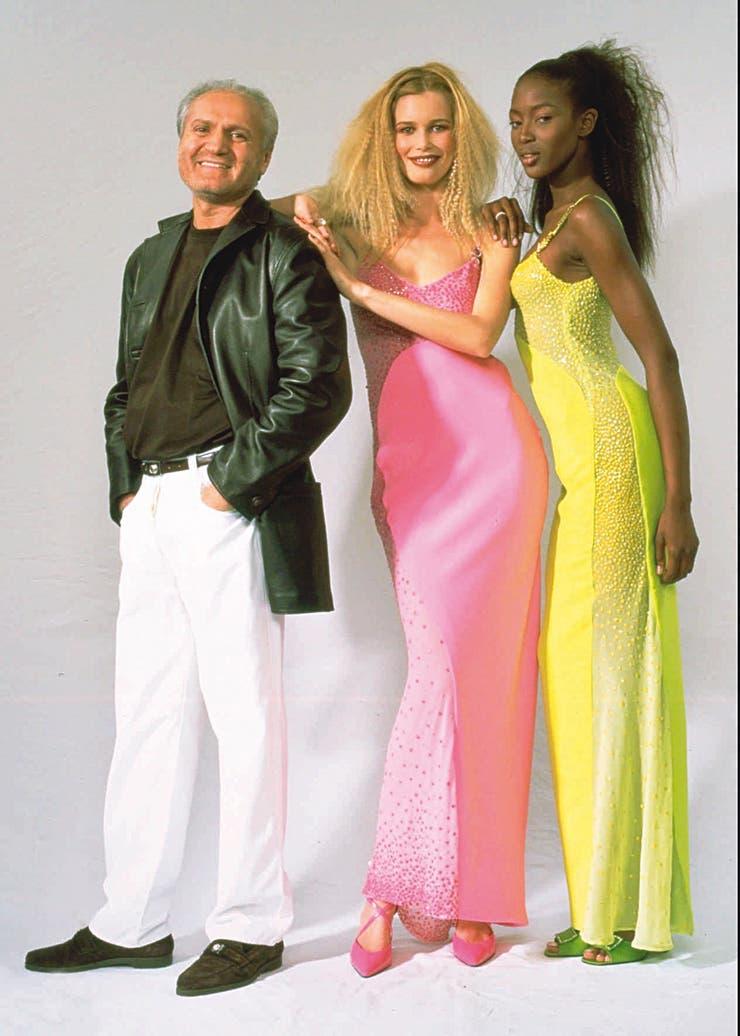 Época de supermodelos: con Claudia Schiffer y Naomi Campbell