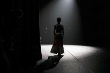 Detrás de escena, como Frida Kahlo, en la obra de Annabelle López Ochoa que interpretó en Despertares
