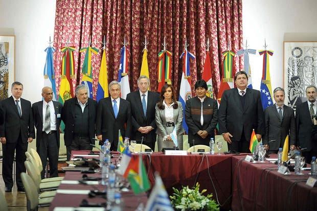 Los presidentes de la región, reunidos en el Palacio San Martín