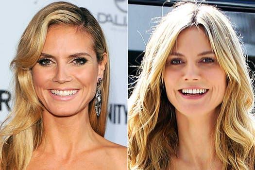 ¿Parece más joven a cara lavada la modelo Heidi Klum?. Foto: Archivo