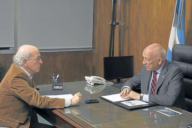 Bonfatti, durante la entrevista con LA NACION