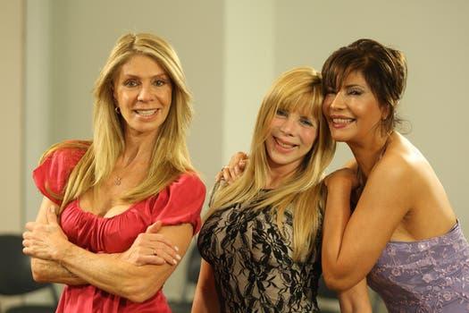 Las chicas de Olmedo: Silvia Pérez, Adriana Brodsky y Susana Romero. Foto: Archivo La Nación