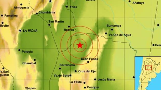El epicentro fue cerca de Deán Funes