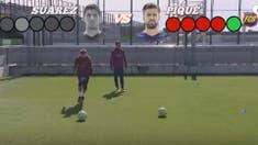 El particular desafío entre Piqué y Luis Suárez en Barcelona: ¿quién le pega con más efecto a la pelota?