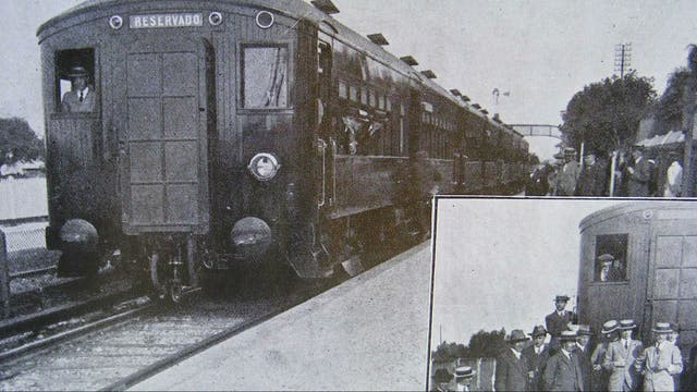 Primer tren eléctrico entre Retiro y Tigre, con carrocería de madera, funcionó entre 1916 y 1931