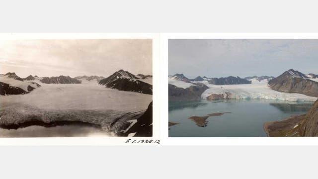 El Ártico antes y después. Foto: Cristiano Åslund