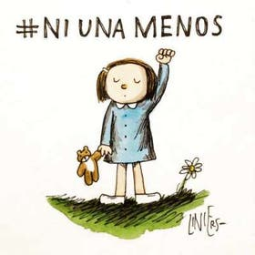 Liniers convirtió a Enriqueta, personaje de una de sus historietas, en bandera de lucha