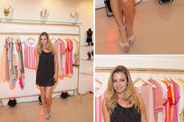 Geraldine Neumann fue a conocer la nueva marca de Matilda Blanco, Magoya, en la apertura de su tienda de Palermo. ¡Muy linda!. Foto: Aló Prensa