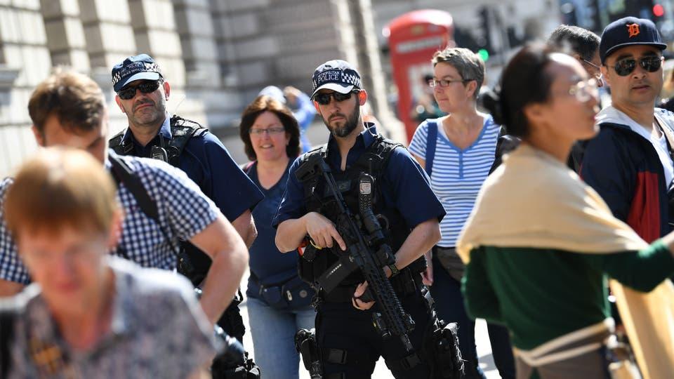 """A causa del ataque, el Reino Unido elevó el nivel de alerta a """"crítico"""", el más alto, y no lo rebajará hasta que los servicios de seguridad se cercioren de que no hay ninguna trama activa. Foto: AFP"""