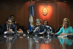 Mario Fera (centro), titular actual del Consejo de la Magistratura con apoyo de la Casa Rosada