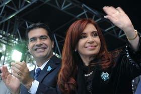 Cristina Kirchner y Jorge Capitanich, ahora al frente de la gestión del Gobierno