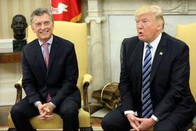 Mauricio Macri, durante su visita a la Casa Blanca en abril