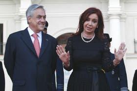 Cristina Kirchner y Sebastián Piñera, en una reciente visita de la mandataria a Chile