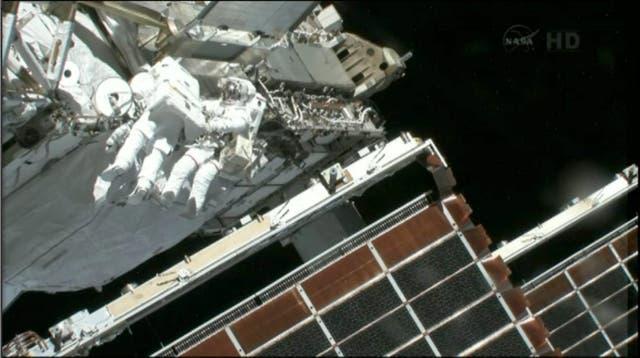 Tom Marshburn y Chris Cassidy realizaron una caminata en el espacio y evitaron la fuga de amoníaco, un elemento que sirve para mantener fríos los sistemas de la nave