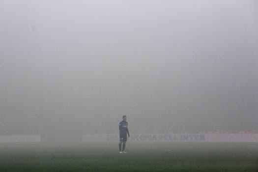 ¡Piedra libre para el Pupi atrás de la niebla!. Foto: Reuters
